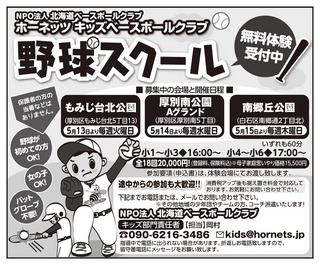 ホーネッツ野球スクール おやこ新聞広告.jpg